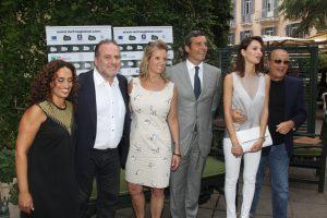Alla presentazione del Festival, Noa, Pascal Vicedomini, Jessica Chastain, Tony Renis