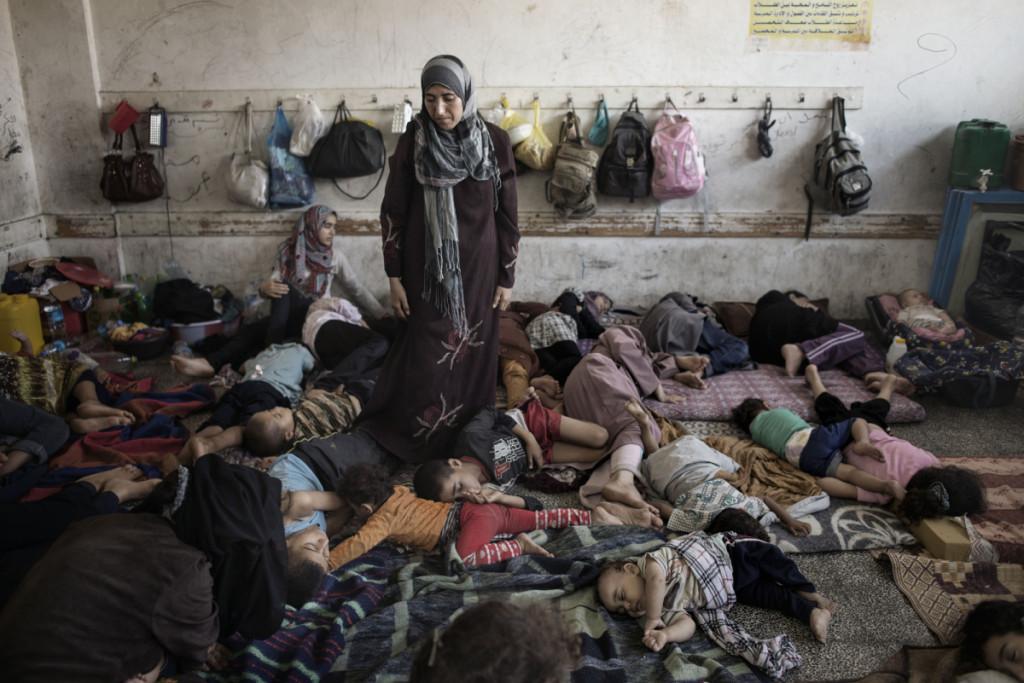 Una scuola di Jabaliya rifugio agli sfollati (Foto: Alessio Romenzi -Time)