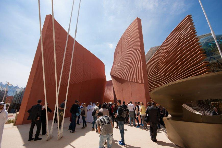 Il padiglione degli Emirati Arabi a Expo 2015