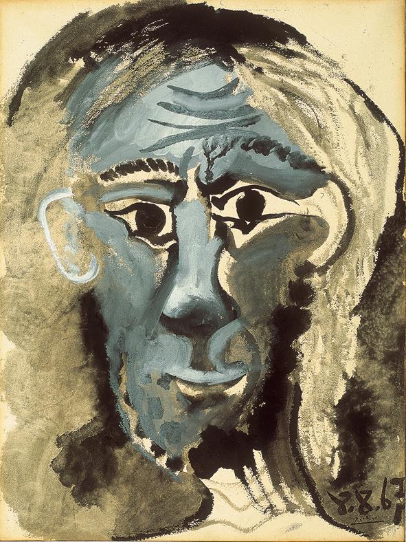 Pablo Picasso, Autoritratto, 1957