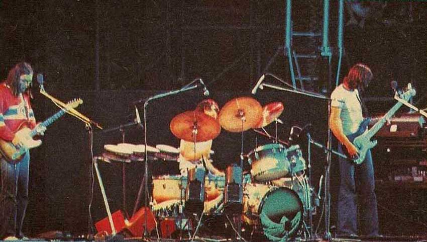 I Pink Floyd al Festival di Knebworth, 1975