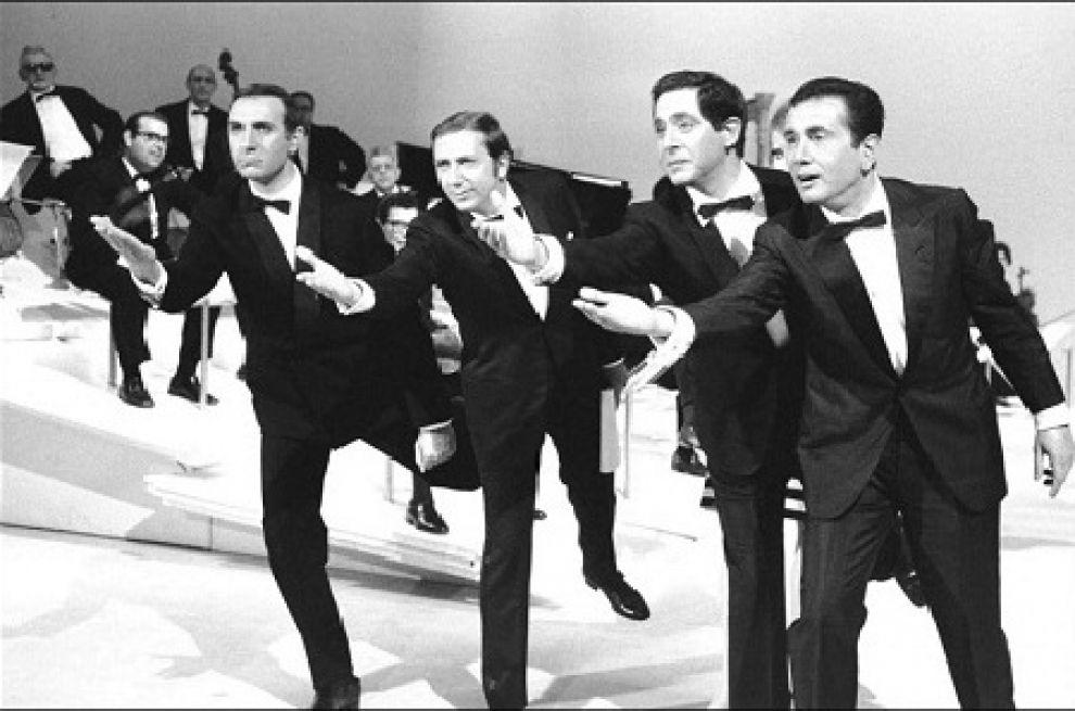Pippo Baudo, Mike Bongiorno, Corrado, Enzo Tortora:  'Sabato sera', 1967