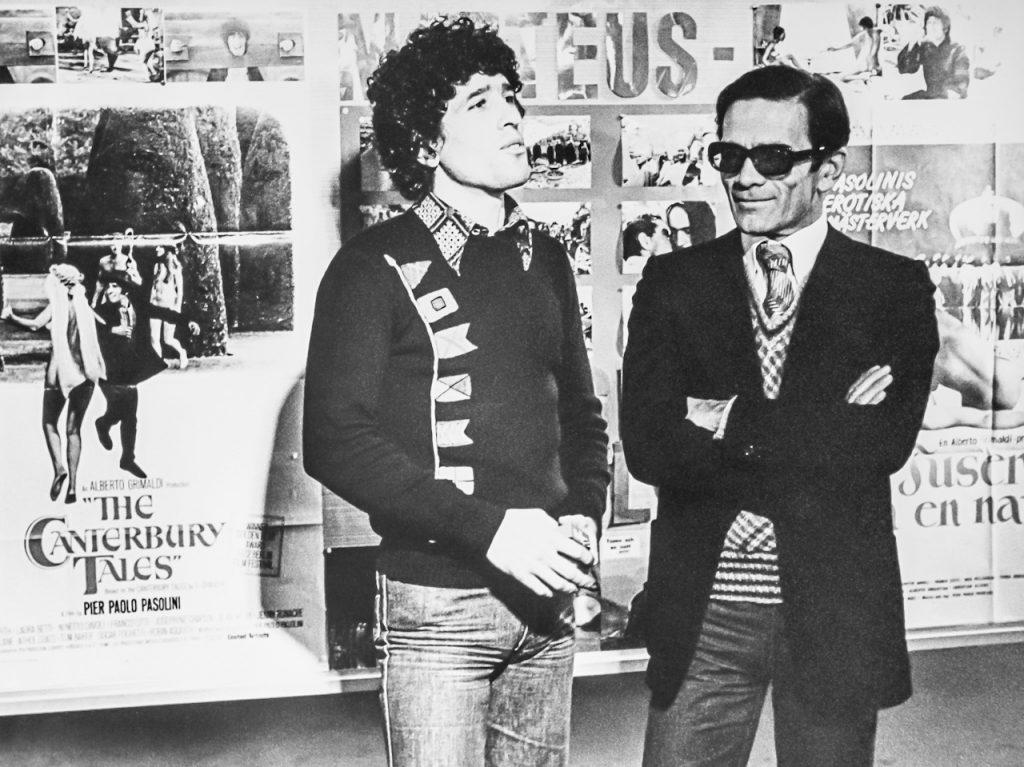 Con Ninetto Davoli nel 1973