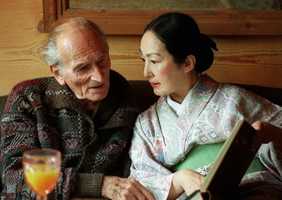 Balthus con la moglie Setsuko nel 1998
