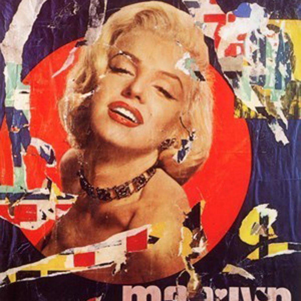 La celebre 'Marilyn' di Rotella