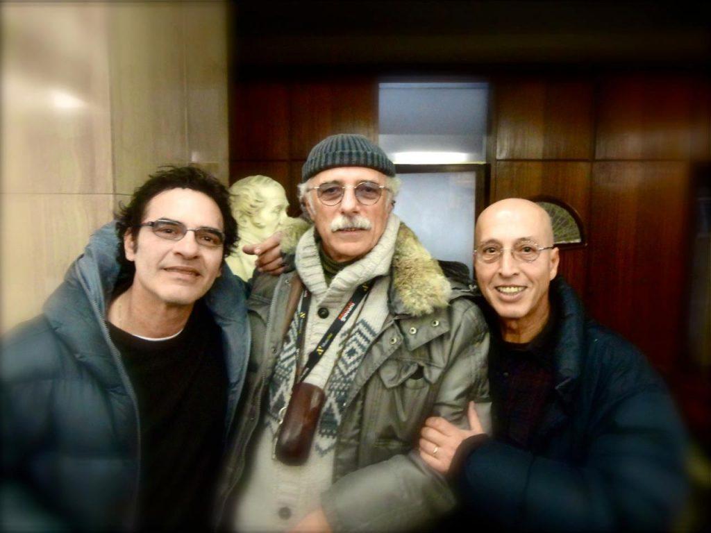 Corrado Castellari con Carlo Marrale e Francesco Baccini nel 2013