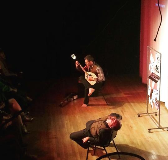 Ernesto Orrico e Massimo Garritano in scena al Brick Theatre di New York