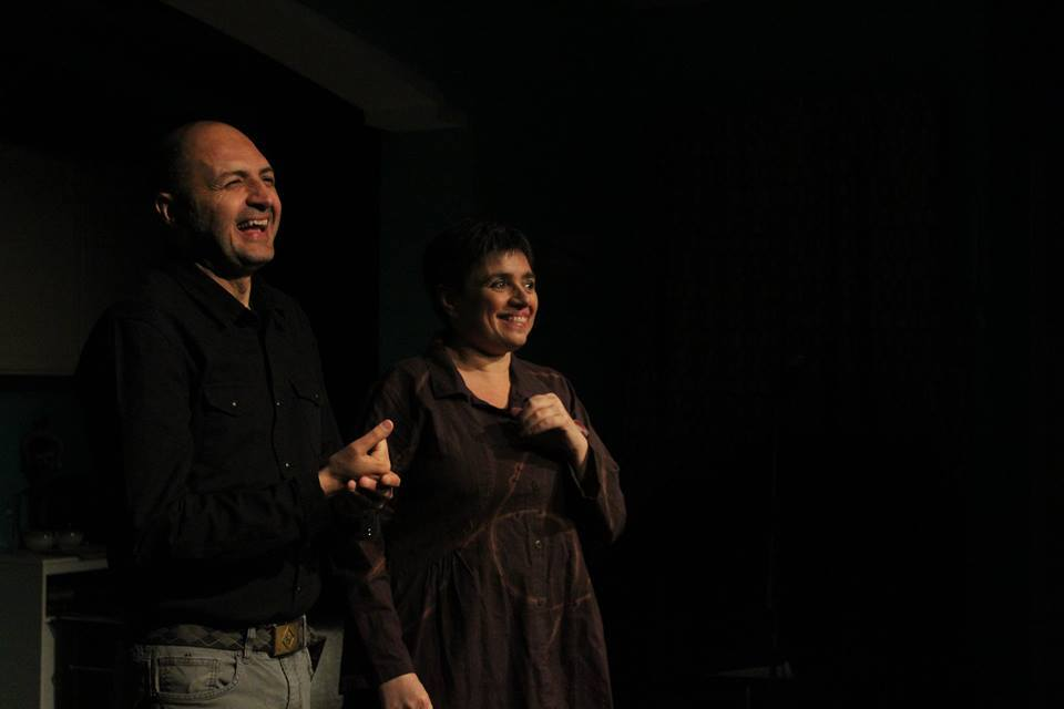 Ernesto Orrico con Laura Caparrotti a New York.
